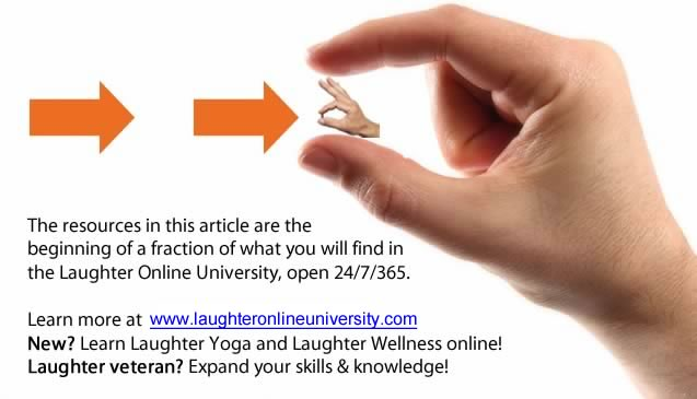 Learn Laughter Yoga and Laughter Wellness online!